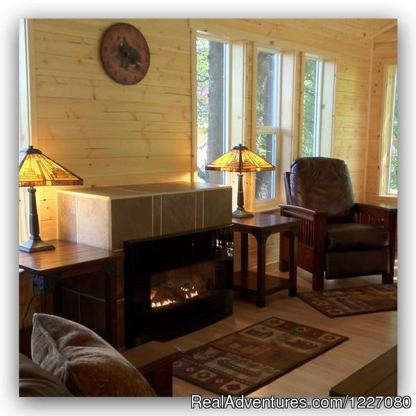 The Gathering House with propane fireplace | Image #20/26 | The Best Waterfront Lodging in Seward Alaska