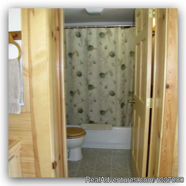 The View Nest has a full bathroom with tub | Image #25/26 | The Best Waterfront Lodging in Seward Alaska