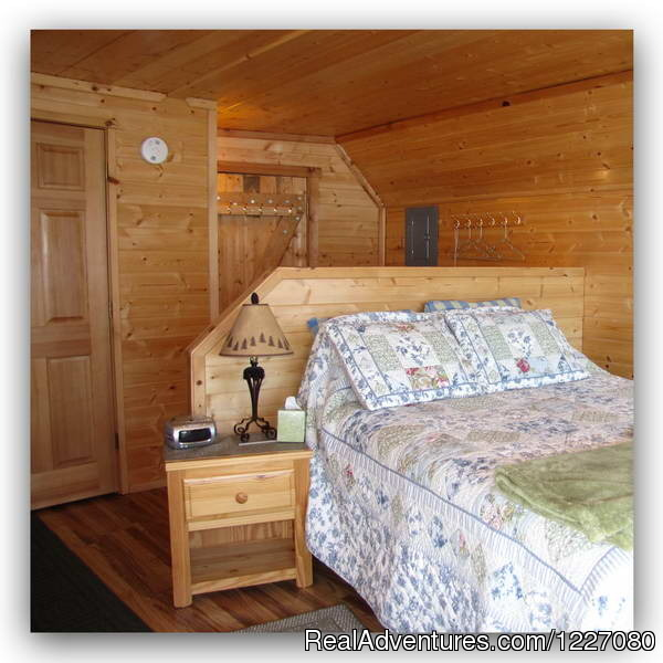 Cloud 9 Cabin bedroom area - The Best Waterfront Lodging in Seward Alaska