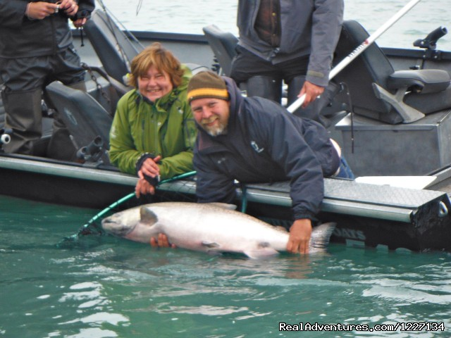 Salmon fishing in Alaska with Eric Loomis Fishing