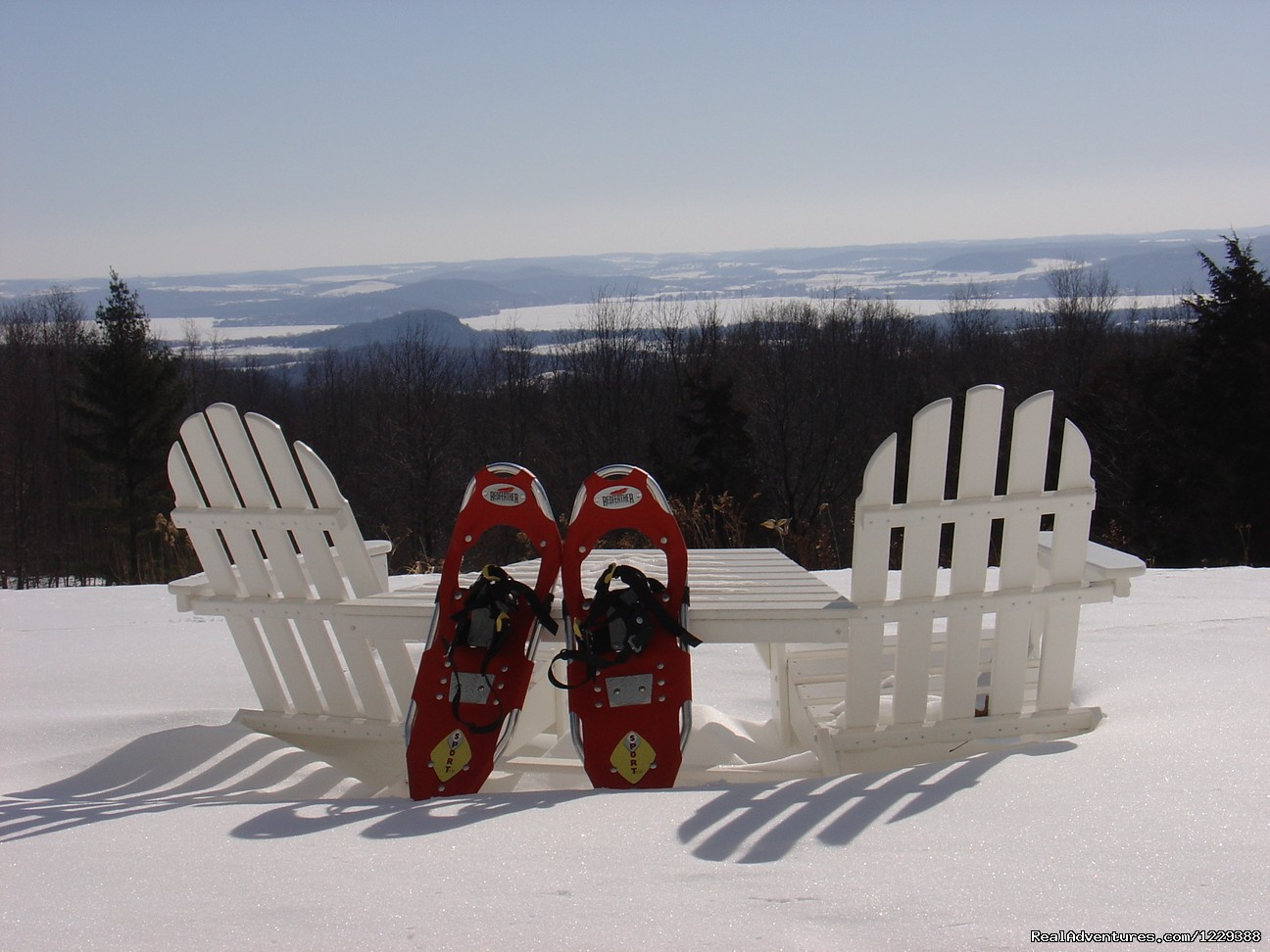 Snowshoeing in the Baraboo Bluffs