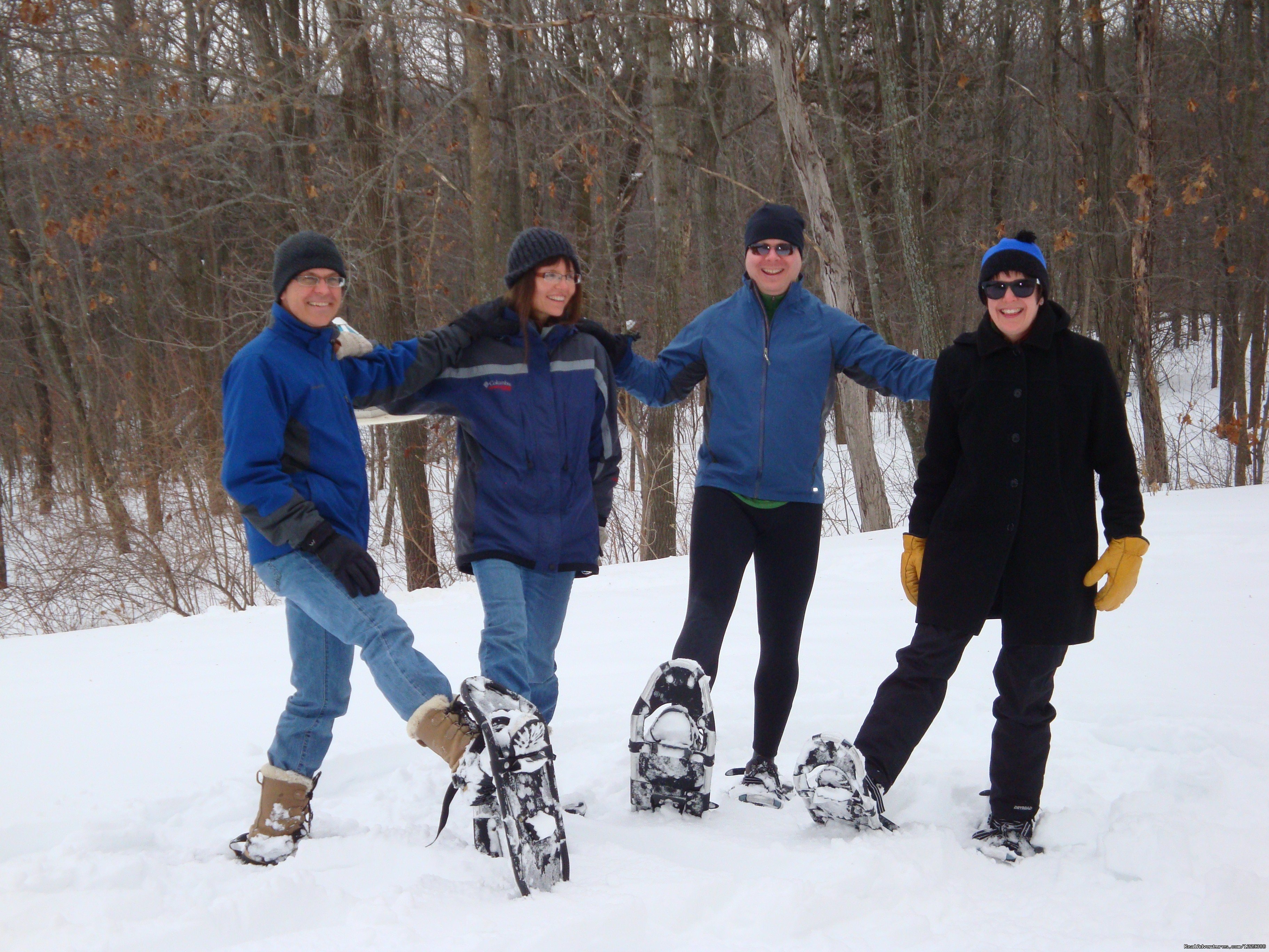 Guests on Snowshoe Trails