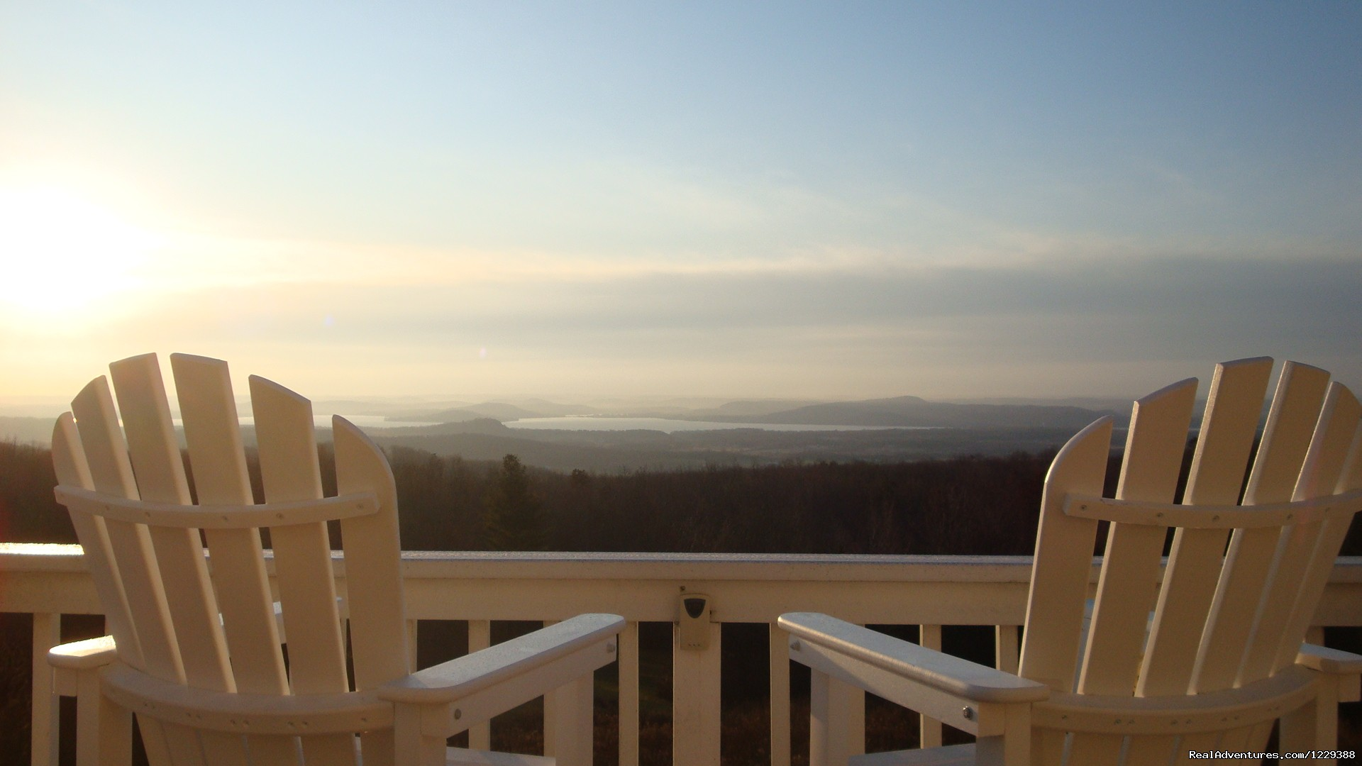 Sunrise from Balcony Deck Chairs | Image #12/20 | Inn at Wawanissee Point