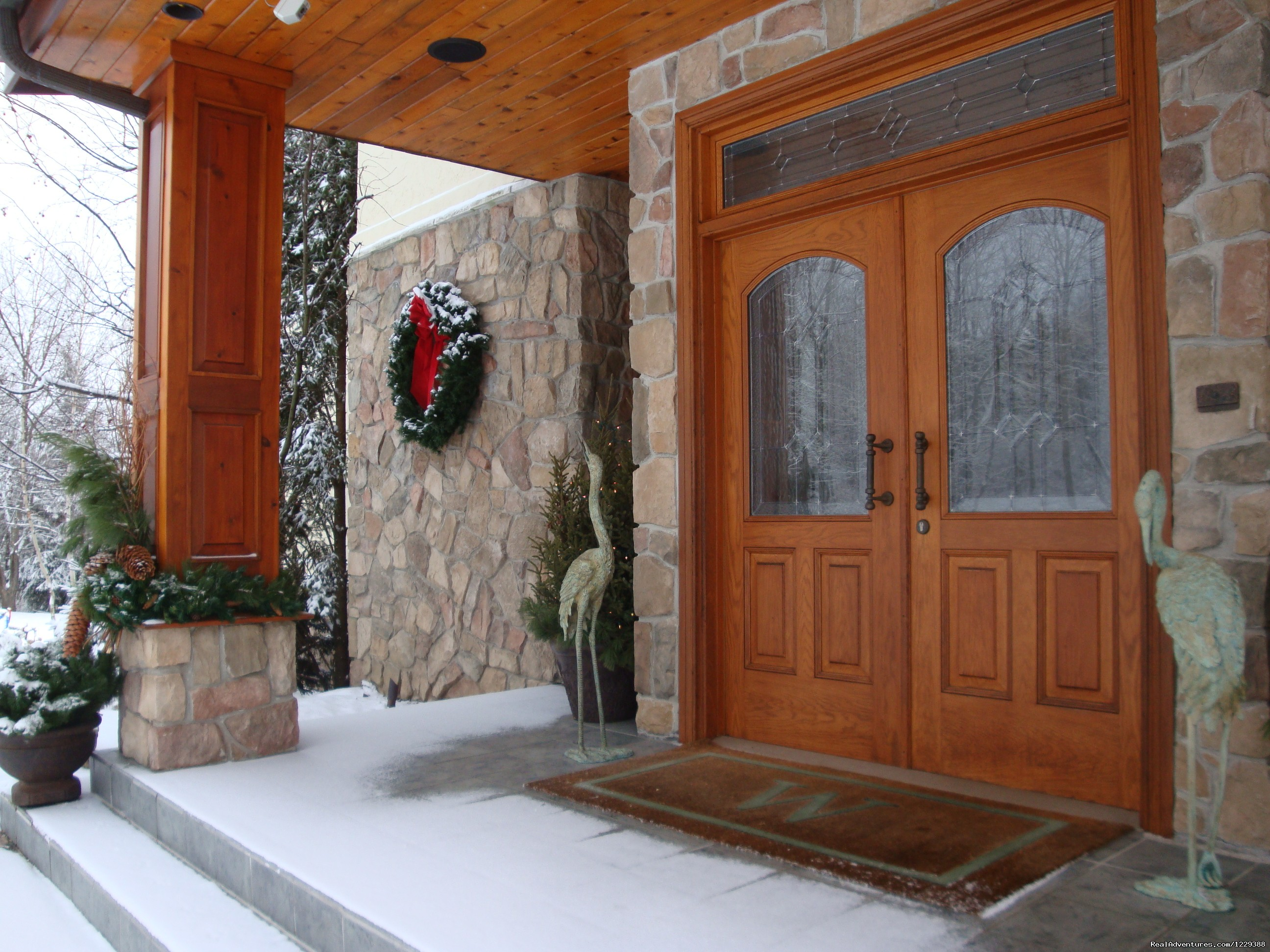 Snowy Front Entrance | Image #13/20 | Inn at Wawanissee Point