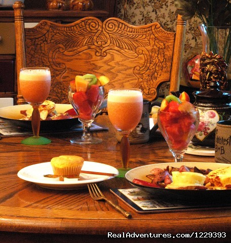 Cobblestone Gourmet Breakfeat - Romantic Weekend Getaways At The Cobblestone B&B
