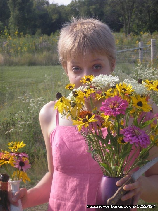 Picking Prairie Flowers | Image #7/7 | Rural Retreat in Historic Village