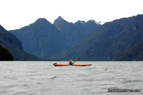 Kayaking Cahuelmo fjord (#1 of 4) - kayaking  Pumalin Park  Andean fjords Patagonia