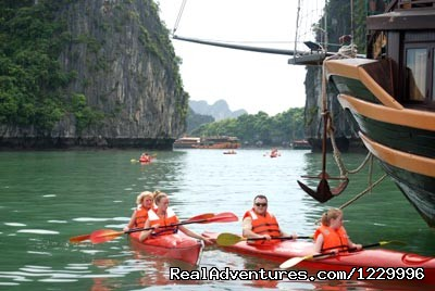Kayaking (#3 of 8) - Luxury Calypso Cruiser of Halong bay 115usd person