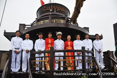 Calypso Staff (#4 of 8) - Luxury Calypso Cruiser of Halong bay 115usd person