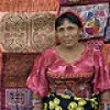 Kuna Lady selling Molas