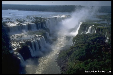 Navigation By The Waterfalls,  Great Adventure. Iguassu  Waterfalls