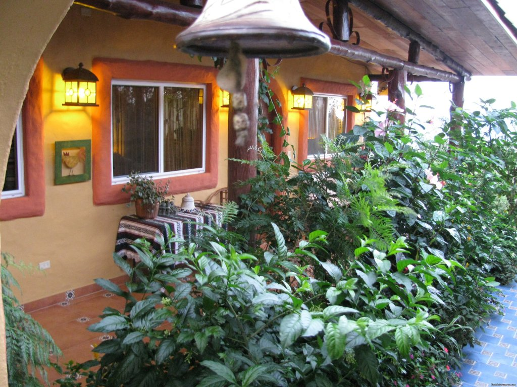 Inner Spanish type patio | Image #10/25 | Cabanas en Altos del Maria, Cabins for rent.