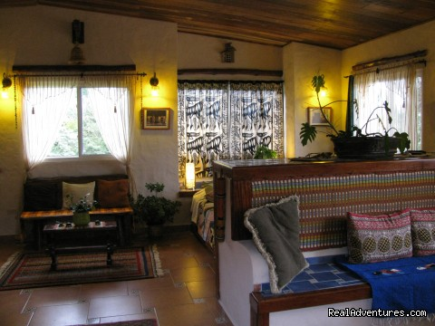 View inside cabin - Cabanas en Altos del Maria, Cabins for rent.