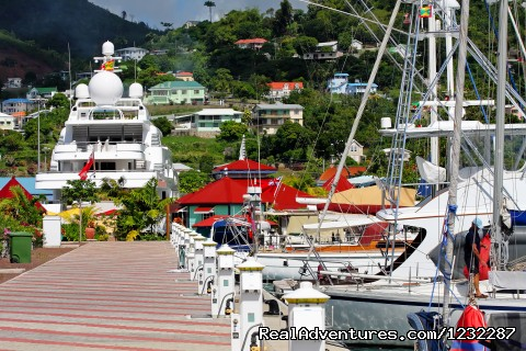 - Luxury superyacht marina at Port Louis, Grenada