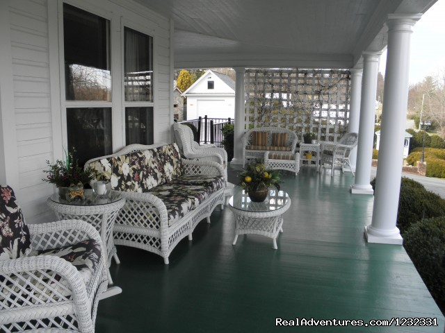 Enjoy our Front Porch - The Doctor's Inn