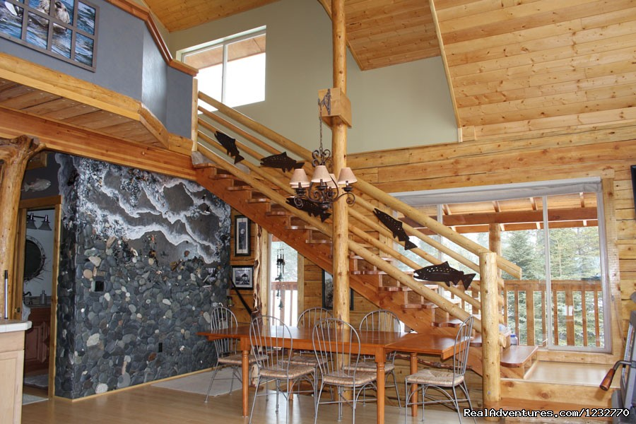 Homer Spit wall and stairs to loft | Image #3/13 | Dream Catcher Bed & Breakfast