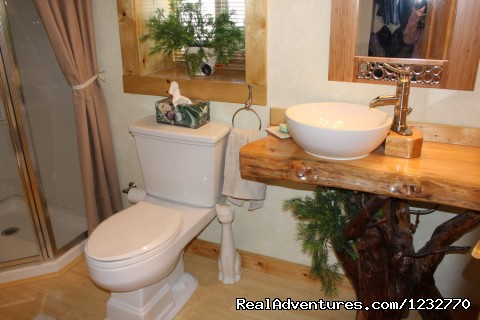 Eagle Room Bathroom - Dream Catcher Bed & Breakfast