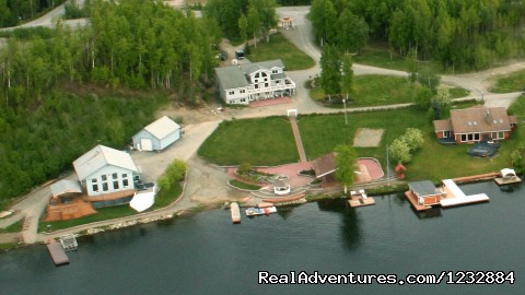 Aeriel View of Alaska Sunset View Resort (#1 of 10) - Elegant Lakefront Vacation Rental