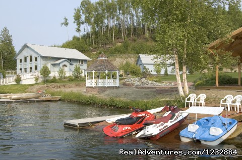 View down by the water - Elegant Lakefront Vacation Rental