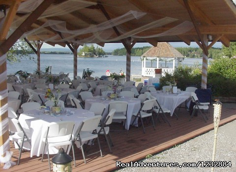 Summer event under the Pavillion - Elegant Lakefront Vacation Rental