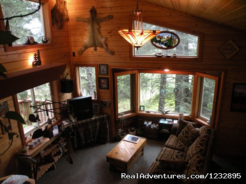 TreeFort House living room. - Beach House Rentals