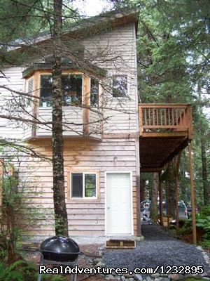 TreeFort Efficiency Apartment entrance on lower level - Beach House Rentals