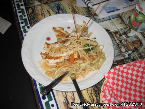 Gourmet Chicken Dinner - Backpackers Hostelling Center & Champ's Sports Bar