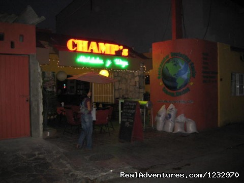 Backpacker's-CHAMP's at Night (#14 of 23) - Backpackers Hostelling Center & Champ's Sports Bar