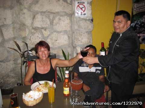 Evening on the Patio (#23 of 23) - Backpackers Hostelling Center & Champ's Sports Bar