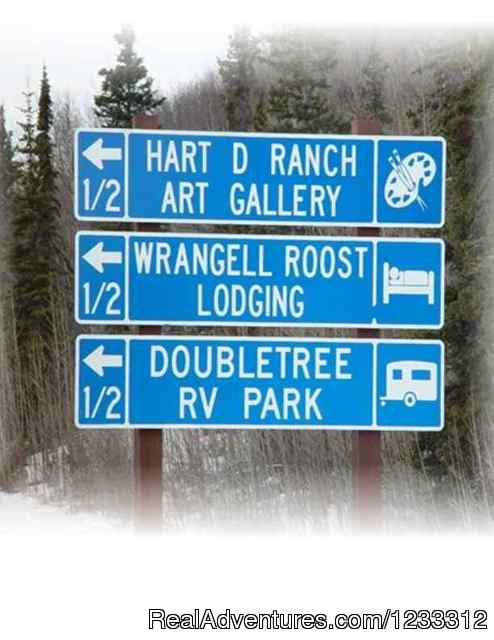 Glenn Highway 1 signage - Hart D Ranch:Rooms /RV Park /PO