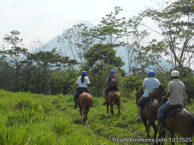 Horseback to the La Fortuna  Waterfall in La Fortuna - Desafio Adventure Company Costa Rica