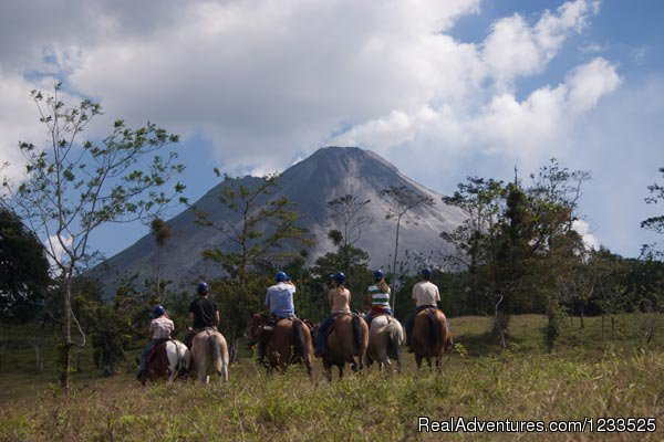 Horseback along the base of the Arenal  Volcano - Desafio Adventure Company Costa Rica