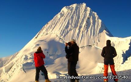 Alpamayo  Cordillera Blanca Peru - Alpamayo Climb at 5,947 Cordillera Blanca Peru