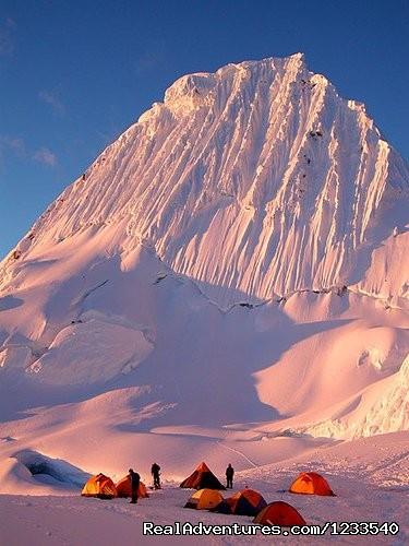 Alpamayo Peru 2014 - Peruvian Mountains - Alpamayo Climb at 5,947 Cordillera Blanca Peru