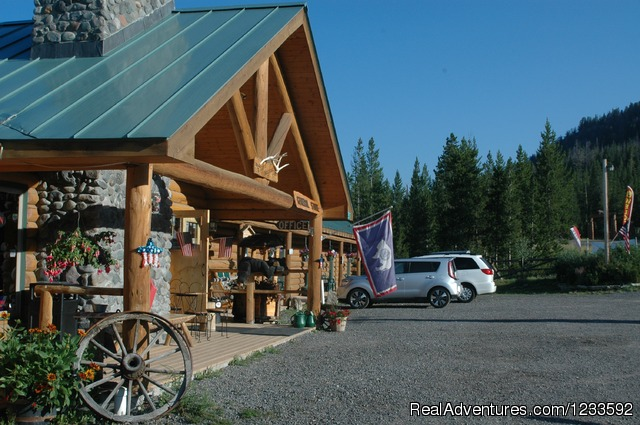 Lava Mountain Lodge General Store curbside view. - Your Yellowstone Park @ Lava Mountain Lodge
