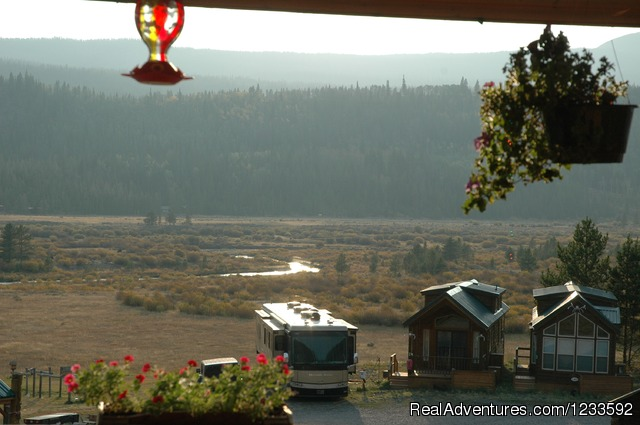 View of the Upper Wind River & Lava Mountain - Your Yellowstone Park @ Lava Mountain Lodge