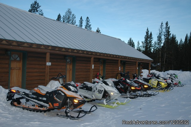 Snowmobiling, Ice Fishing & Skiing are popular - Your Yellowstone Park @ Lava Mountain Lodge