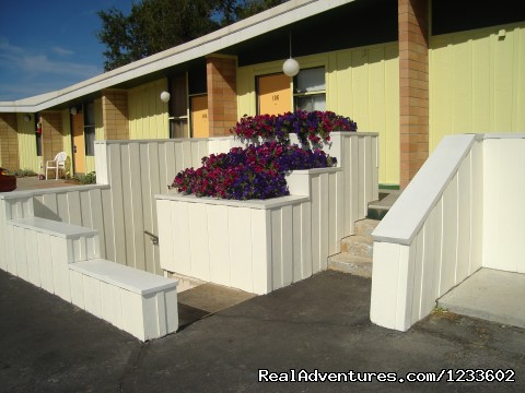 Flowers on the Boardwalk - The Holiday Lodge - A Happy Little Motel