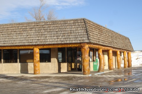 Oxbow Restaurant Entrance - Rodeway Inn & Suites Pronghorn Lodge