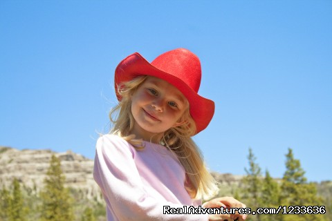 Happy young guest - Find your Frontier at the T Cross Ranch
