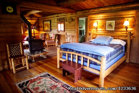 Interior of one of our comfortable cabins - Find your Frontier at the T Cross Ranch