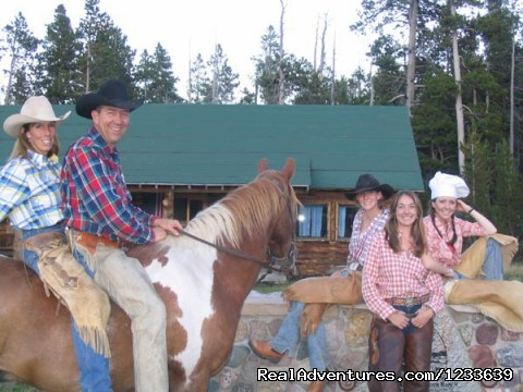 Allen family, your hosts - Allen's Diamond Four Wilderness Ranch