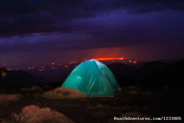 Camp at 3100M Toubkal - Trekking in Toubkal - High Atlas Mountain