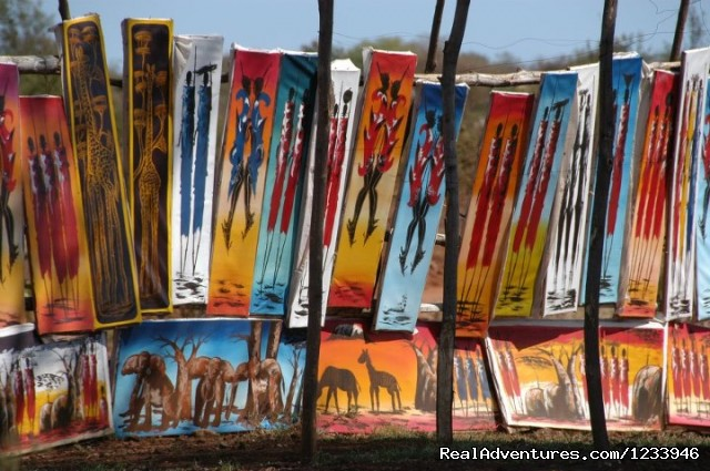 Beautiful Art At Mto Wa Mbu Village - 7 Days 6 Nights Great Wildebeests Migration Safari