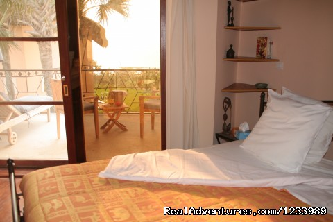 Bedroom with view - Les Alizes Beach Resort (Cap Skirring, Senegal)