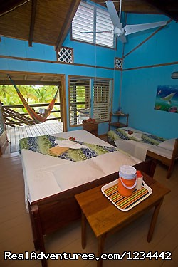 Clean accommodations at South Water Caye - FLY FISHING in Belize