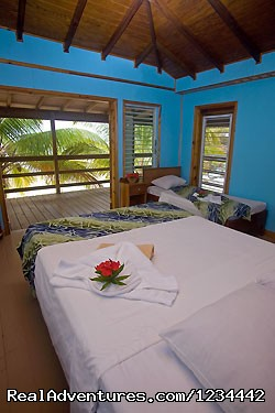 Clean accommodations South Water Caye - FLY FISHING in Belize