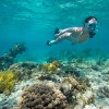 Snorkeling in the clear water at  South Water Caye