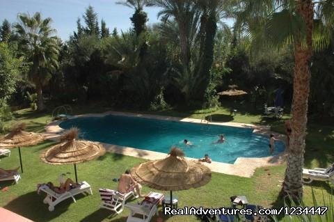 garden pool view - Villa Des 3 Golfs à Marrakech