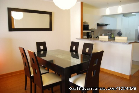 Dining area - Brand new luxury condo in Av. Larco, Miraflores